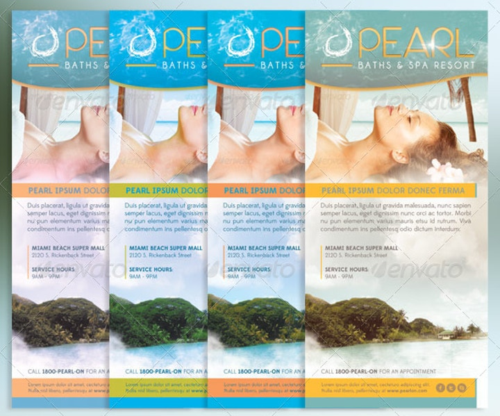 Spa Resort Rack Card Template