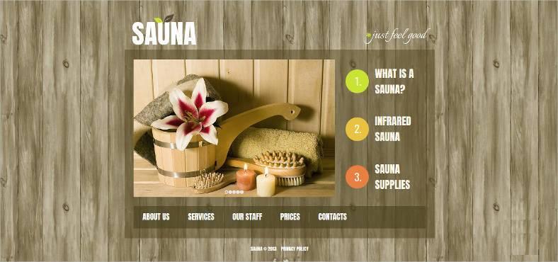 spa sauna website template1 788x370
