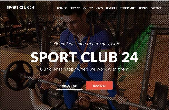 sport club muse theme template