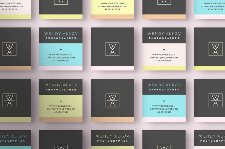 square-personal-card-design