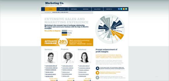 successful market website template