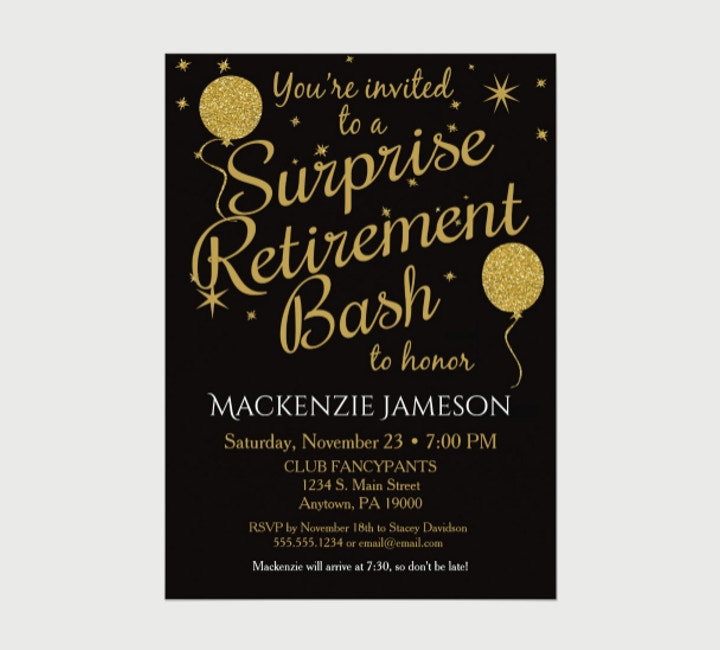 15+ Attractive Retirement Invitation Designs - PSD, AI ...