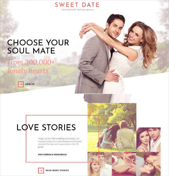 sweet date html website theme