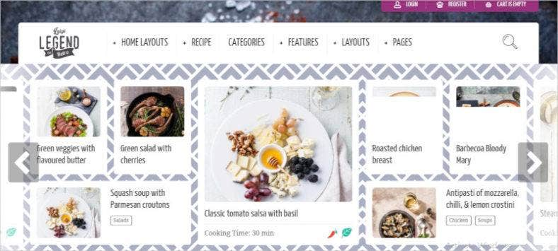 theme for food recipe bloggers chefs 788x355