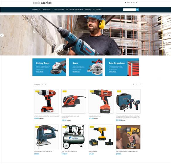 tools market ecommerce website template