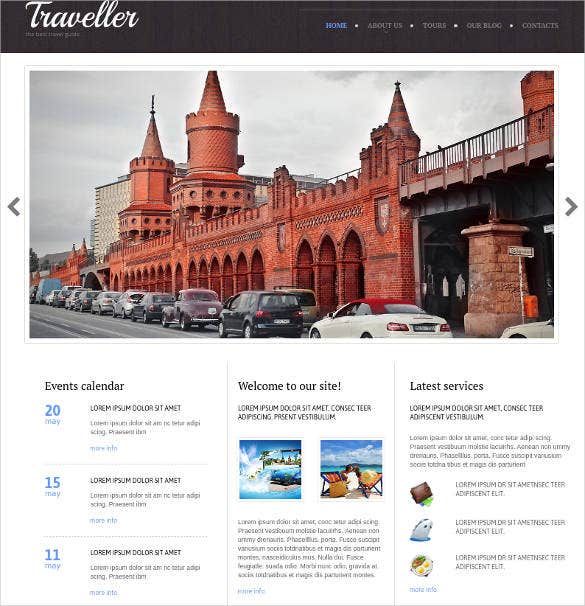 travel agency website theme1