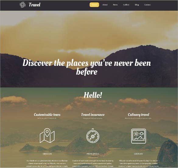 travel agency website with blog