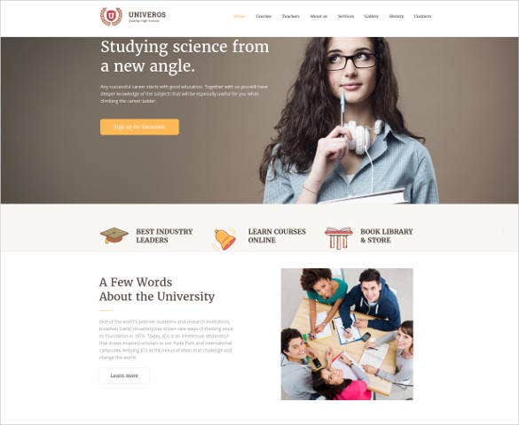 univeros responsive website template1