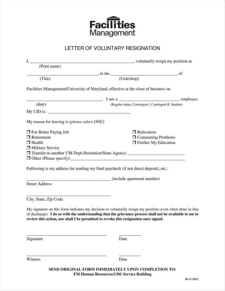 voluntary resignation letter to employer 11 788x1019