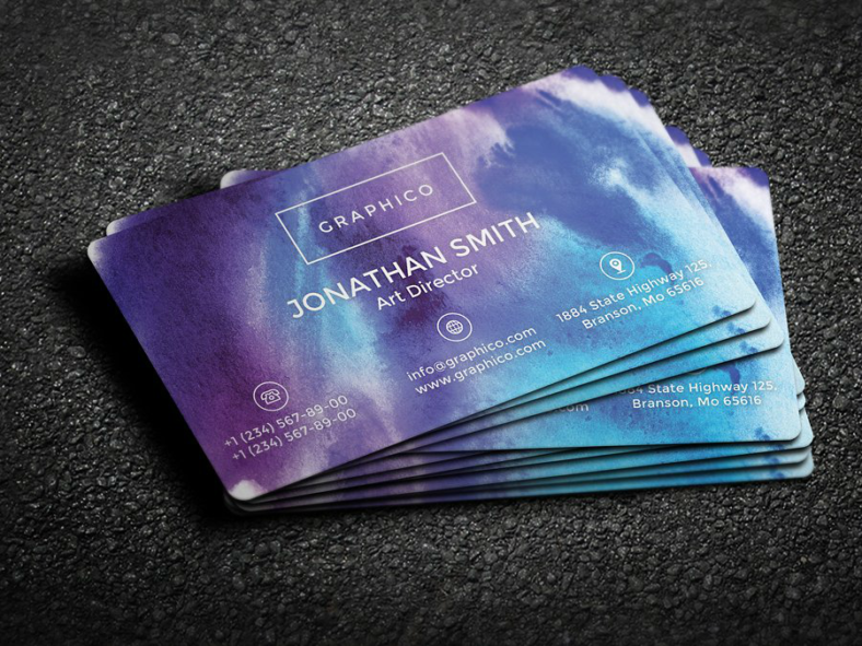 watercolor personal card template 788x591