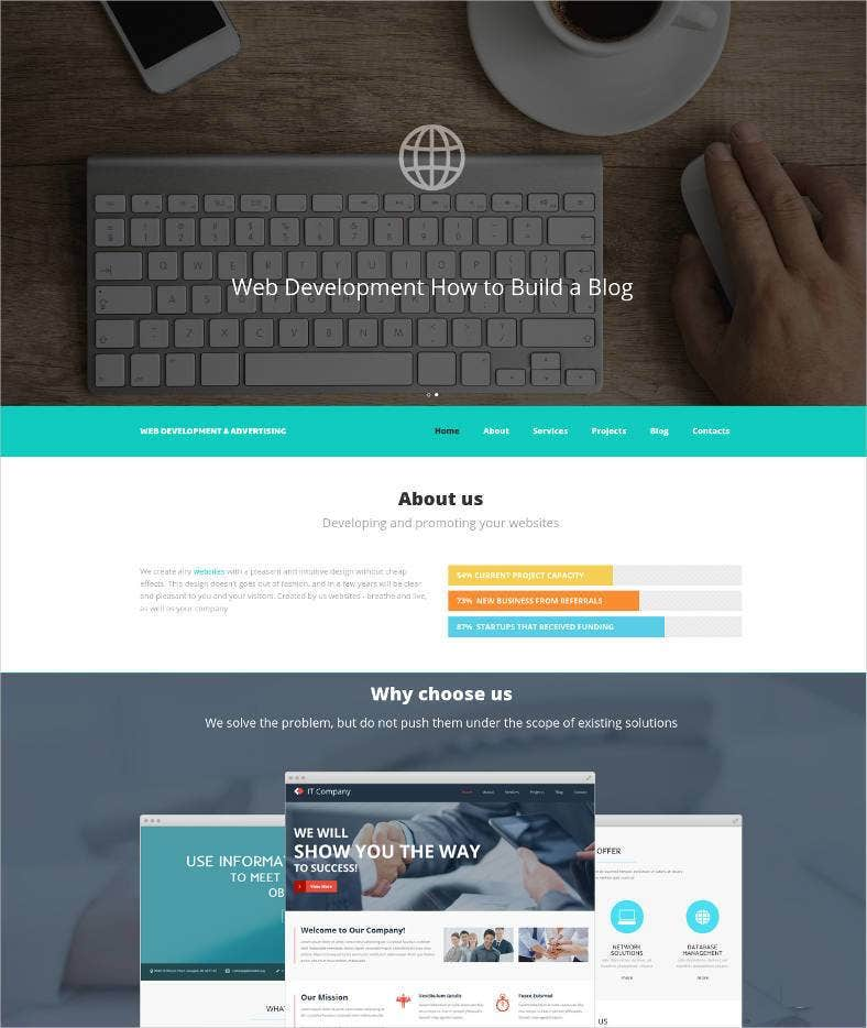 web developing website template 788x934