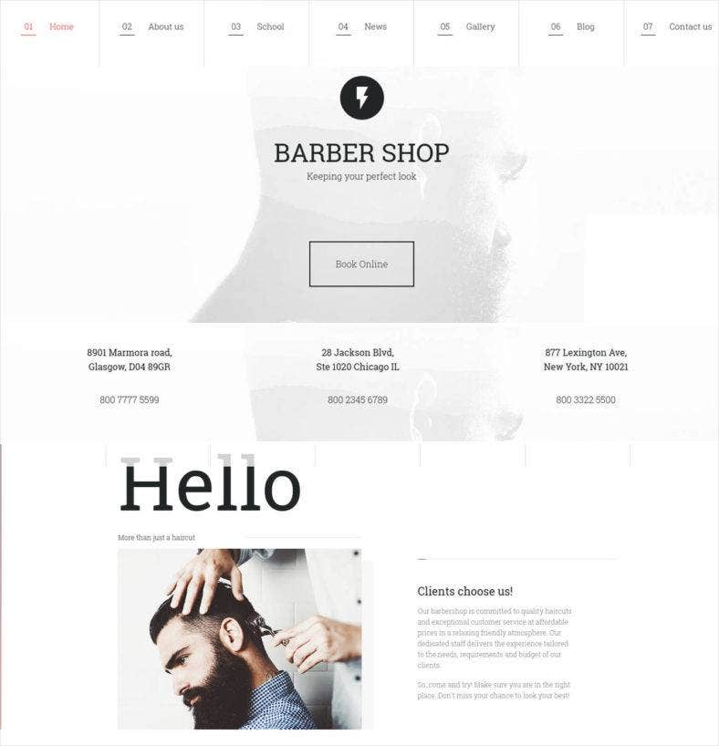 website design for professional stylists 788x818