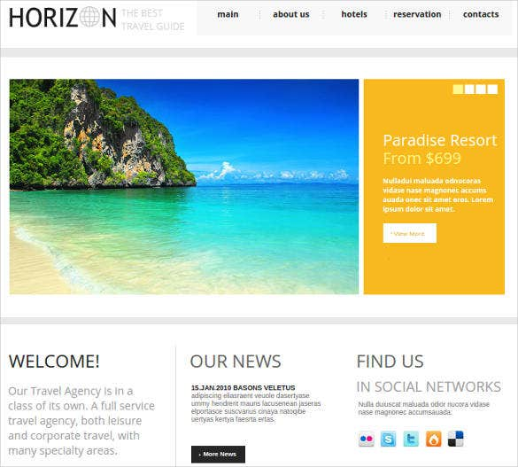 website design for travel agencies