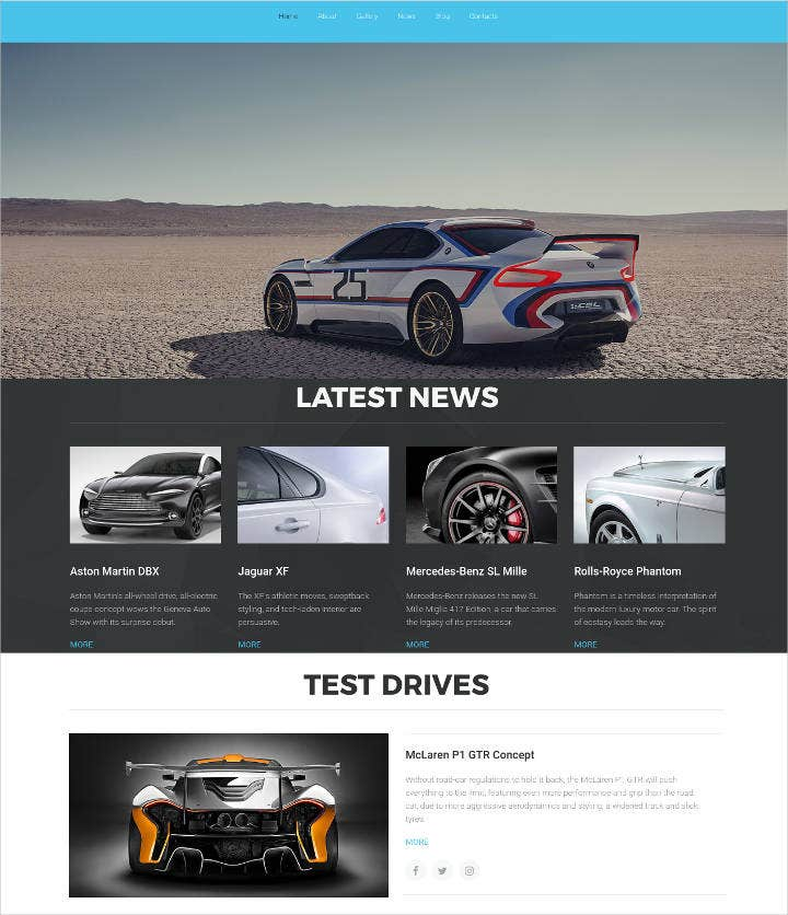 website template for car website template