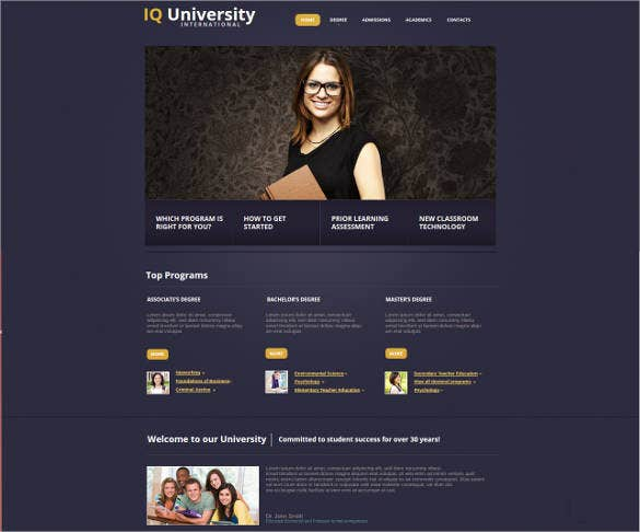 website template for educational institution