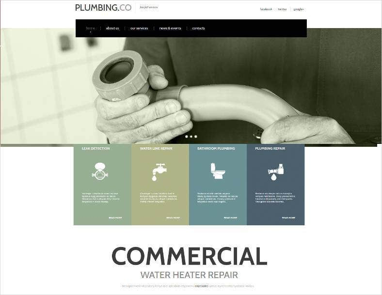 website template for plumbers 788x609