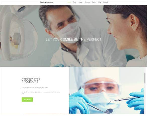website template for teeth whitening service