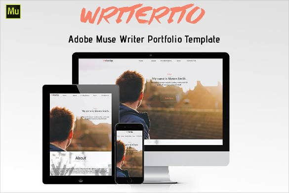 website template for writer