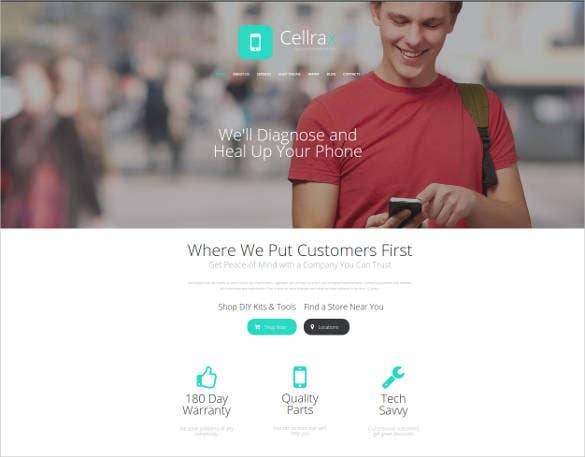 website theme for mobile phone repair services
