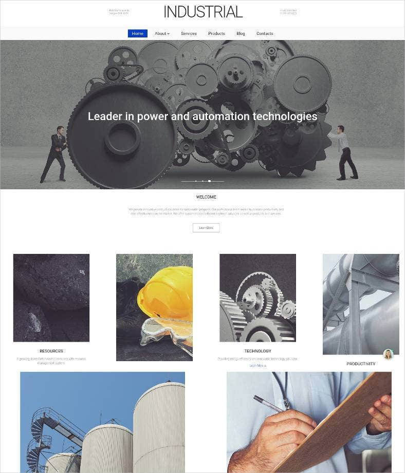 website for industrial companies 788x922