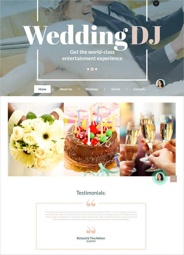 wedding dj html html website template1