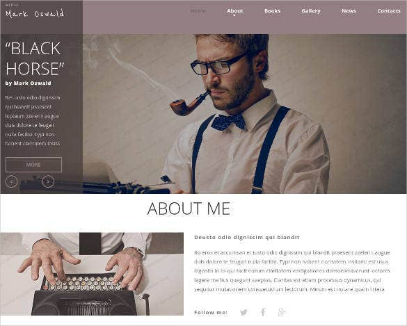 writer author responsive website
