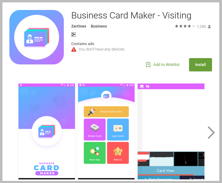 zerones-business-card-maker-app
