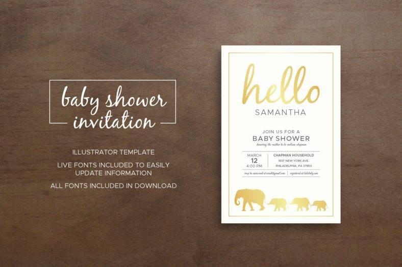 Zoo Baby Shower Invitation