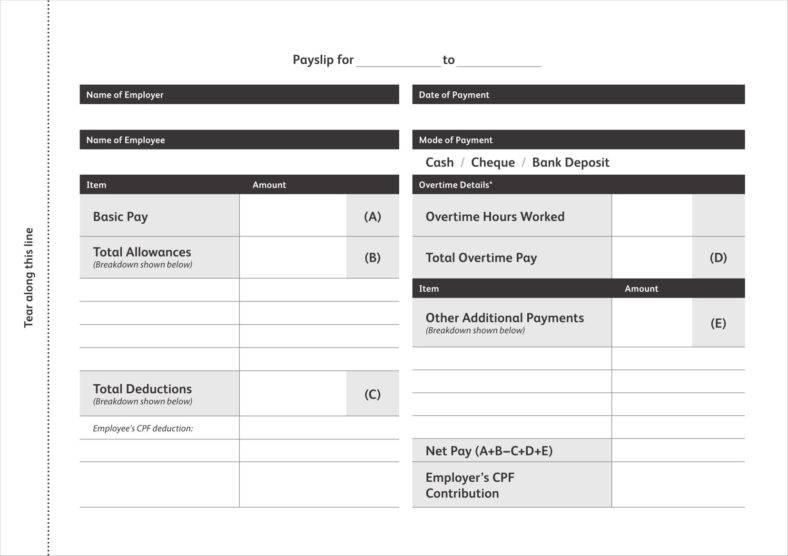 9 Free Check Stub Templates Free PDF DOC Format Download