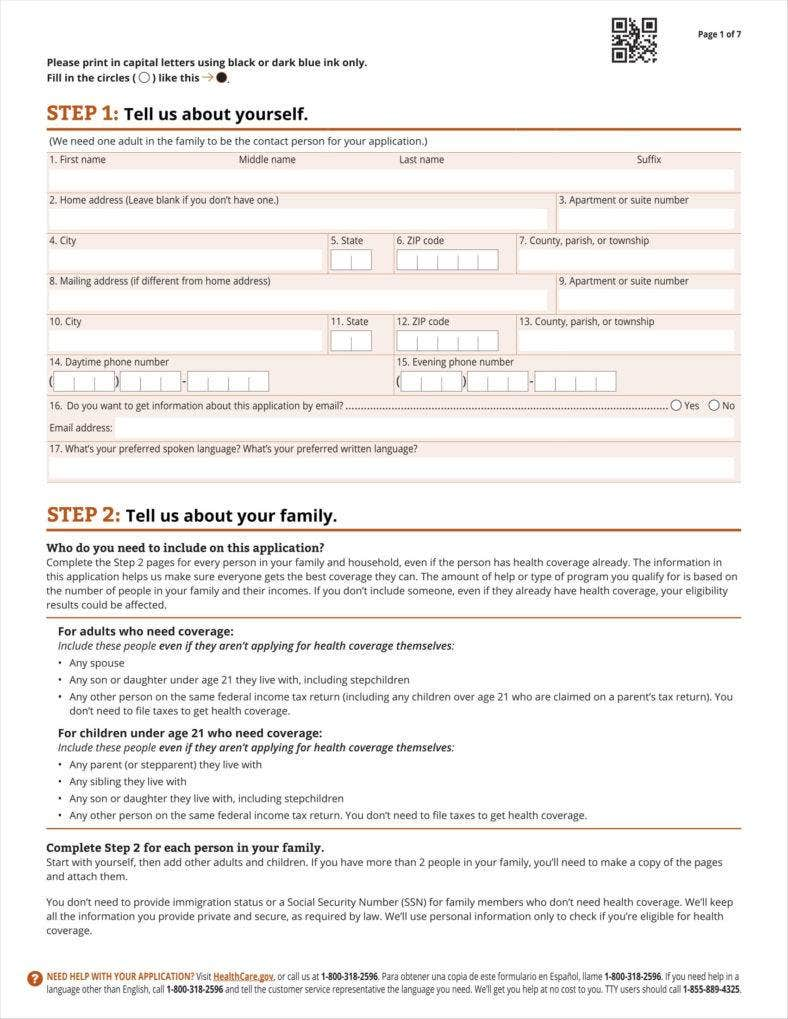 9 Insurance Application Form Templates Free Pdf Format