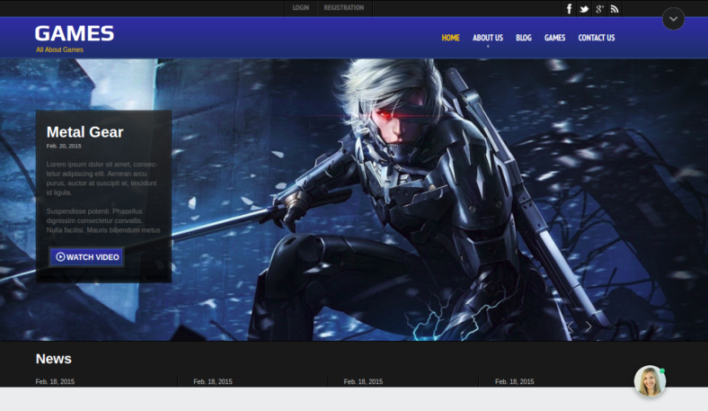 Gaming HTML Website Templates Free Premium Templates - Gaming website template