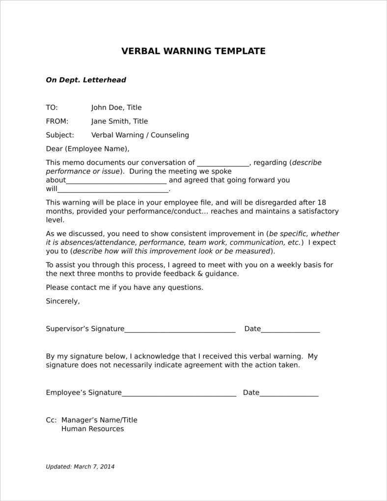 9 late warning letter examples free word pdf format download verbal warning tardiness letter template spiritdancerdesigns Choice Image