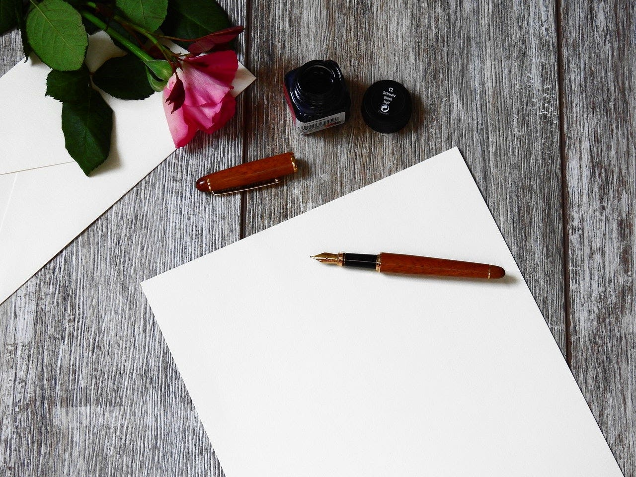 writing on a card