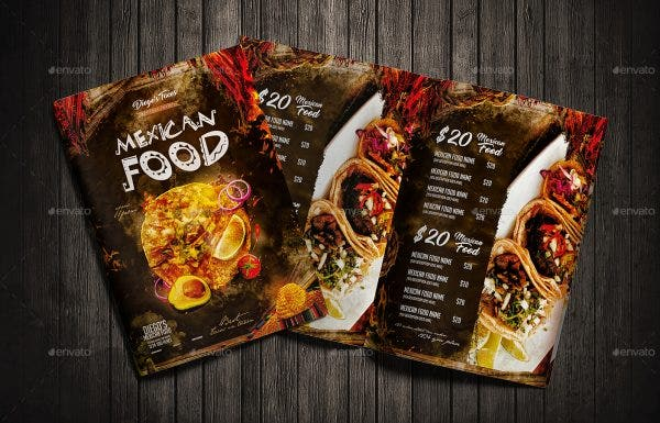 19 Mexican Restaurant Menu And Flyer Templates Psd Word Ai