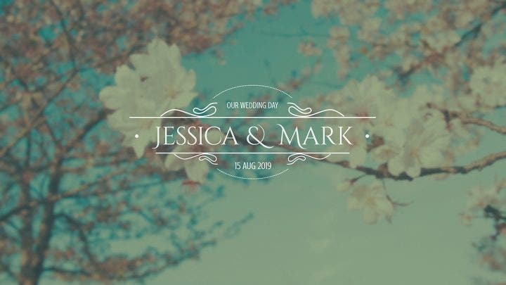 wedding titles template