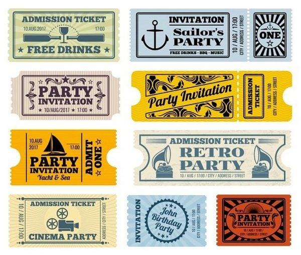 17 Attractive Vintage Ticket Templates Psd Eps Word