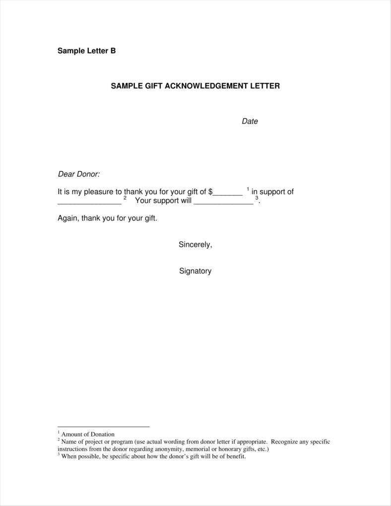 Donation Acknowledgment Letter Templates Free Word Pdf Excel