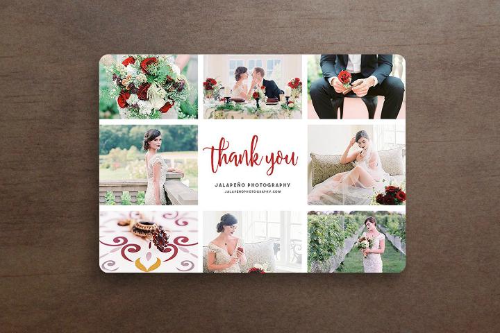 5x7 wedding thank you card psd template