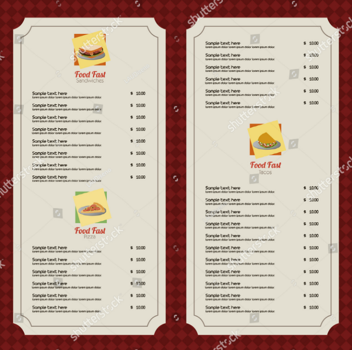 abstract-blank-menu-template