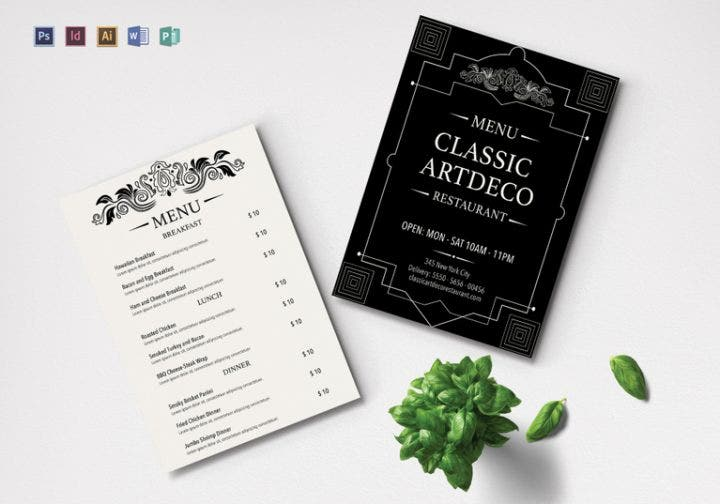 art-deco-menu-template