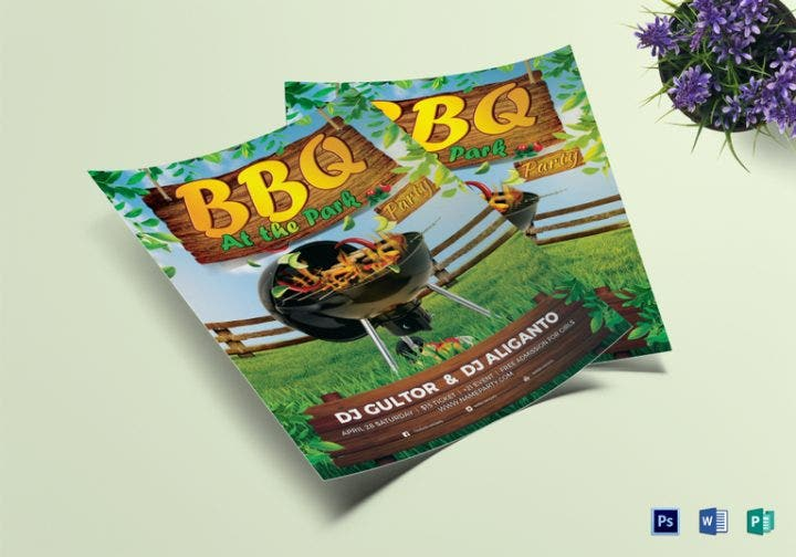 bbq summer party flyer template e1509609300780