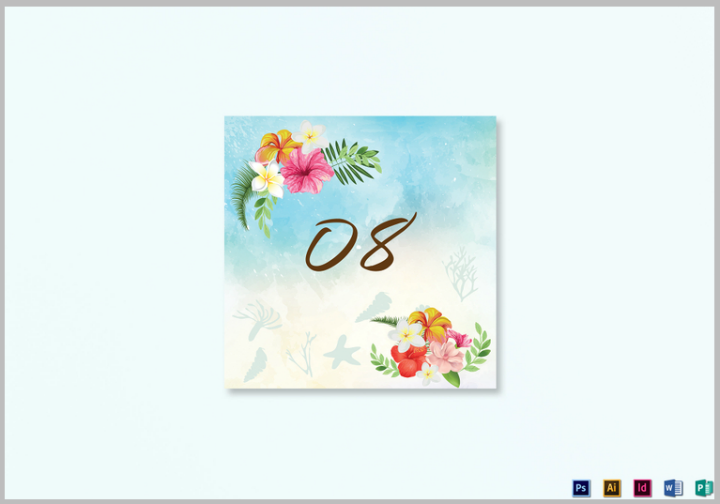 beach-table-card-template