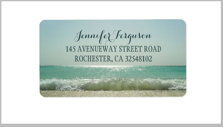 beach-wedding-address-label