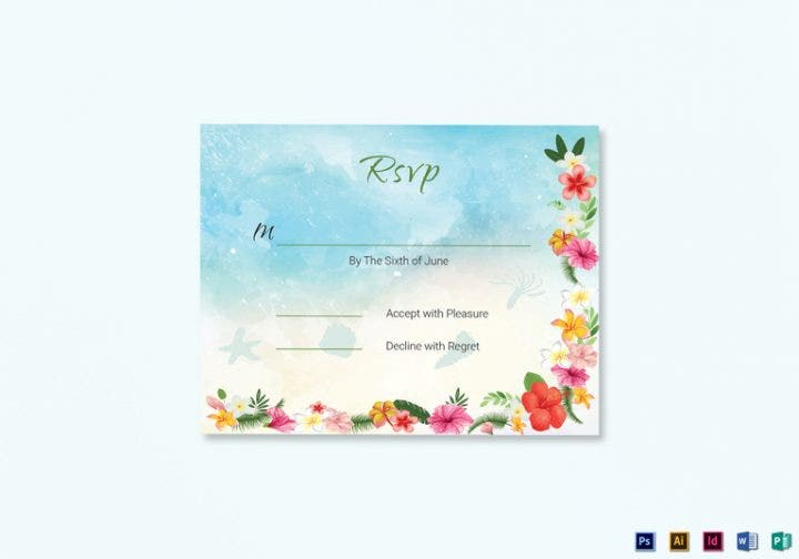 beach-wedding-rsvp-card-template
