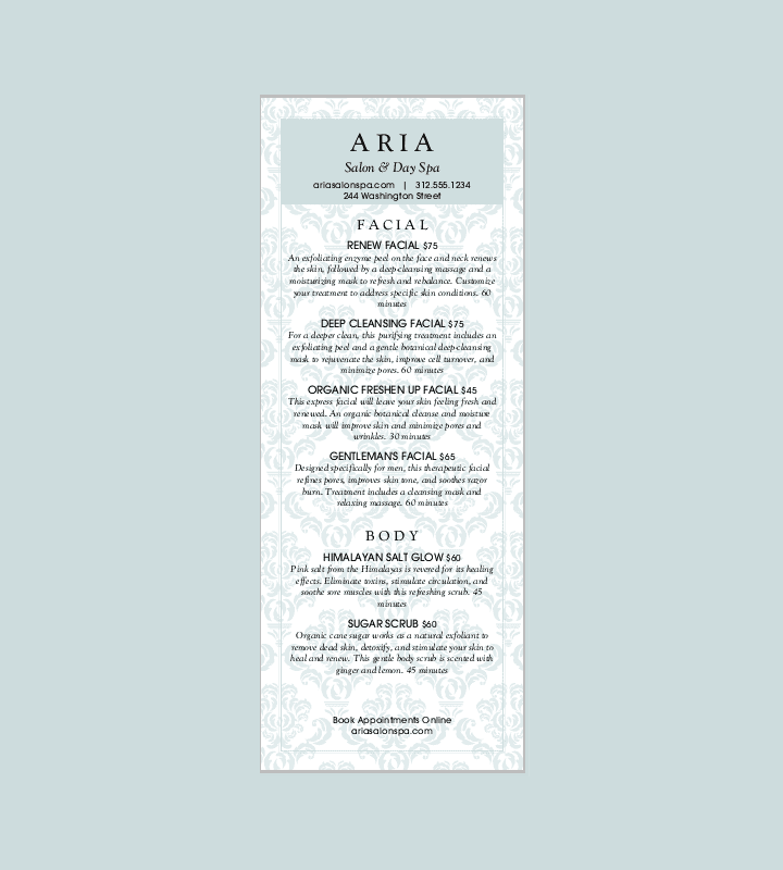 beauty-salon-menu-design