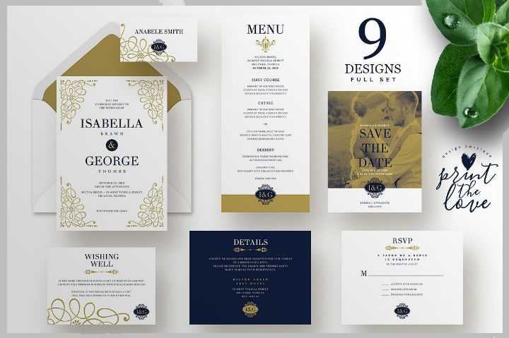 blue-and-gold-wedding-invitation-template-set