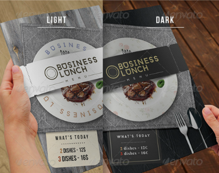 booklet business lunch menu design