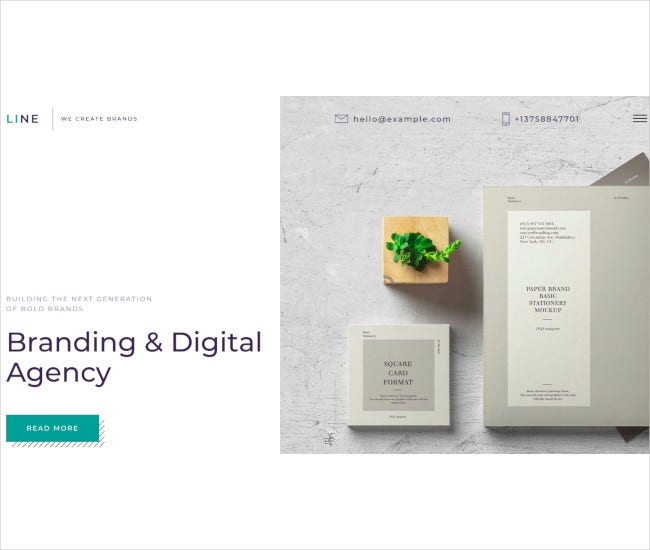 branding digital agency muse template
