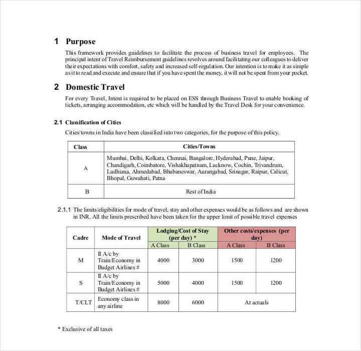 Policy Template Samples  Free Pdf Word Format Download  Free