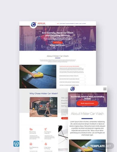car wash wordpress theme template